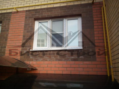 Рулонные шторы UNI вид с улицы