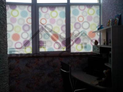 Рулонные шторы на совмещенном балконе