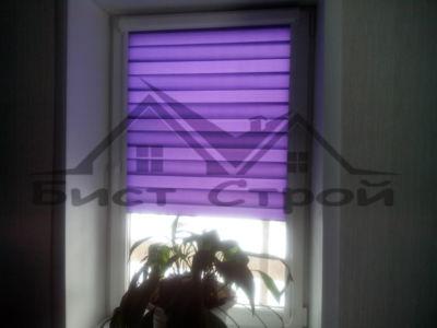 Шторы ЗЕБРА фиолетовые с тканью Basic
