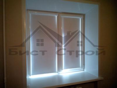 Белые рулонные шторы