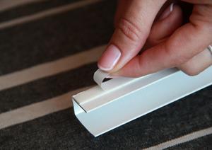INTEGRA BOX DUO снять защитный слой скотча с направляющих